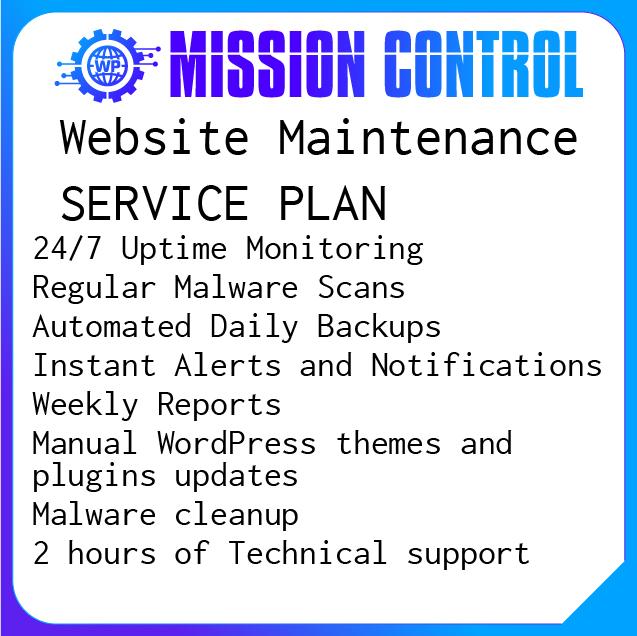 Wordoress security service plan